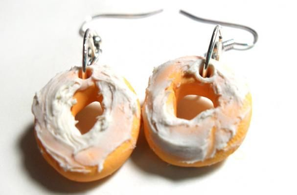 Yum! These frosted doughnut earrings are a perfect complement to morning coffee.