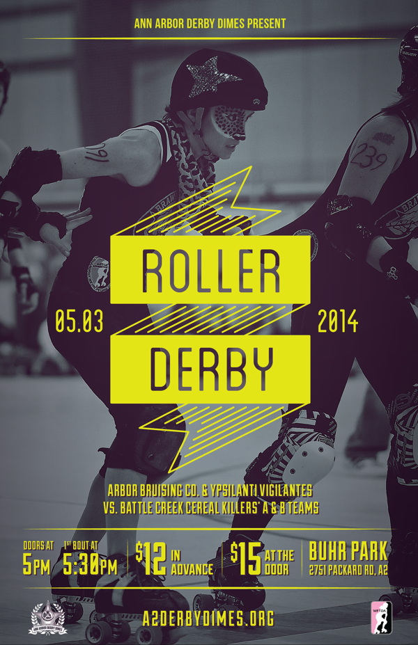 Roller Derby Poster 5.3.14 on Behance