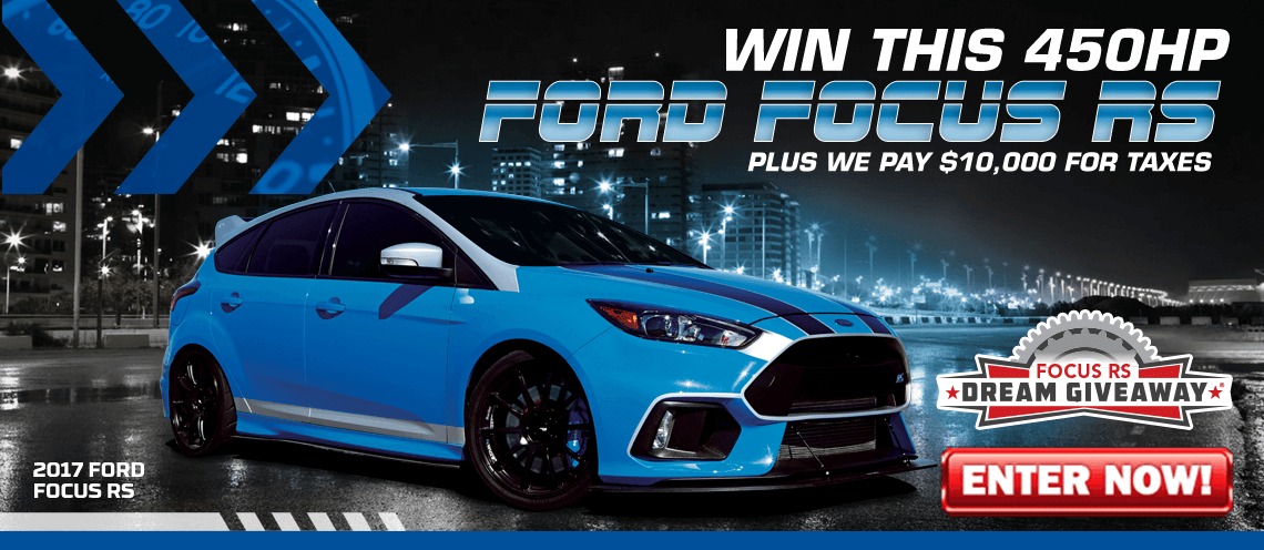 Enter to win a street/track 2017 Ford Focus RS with 20K