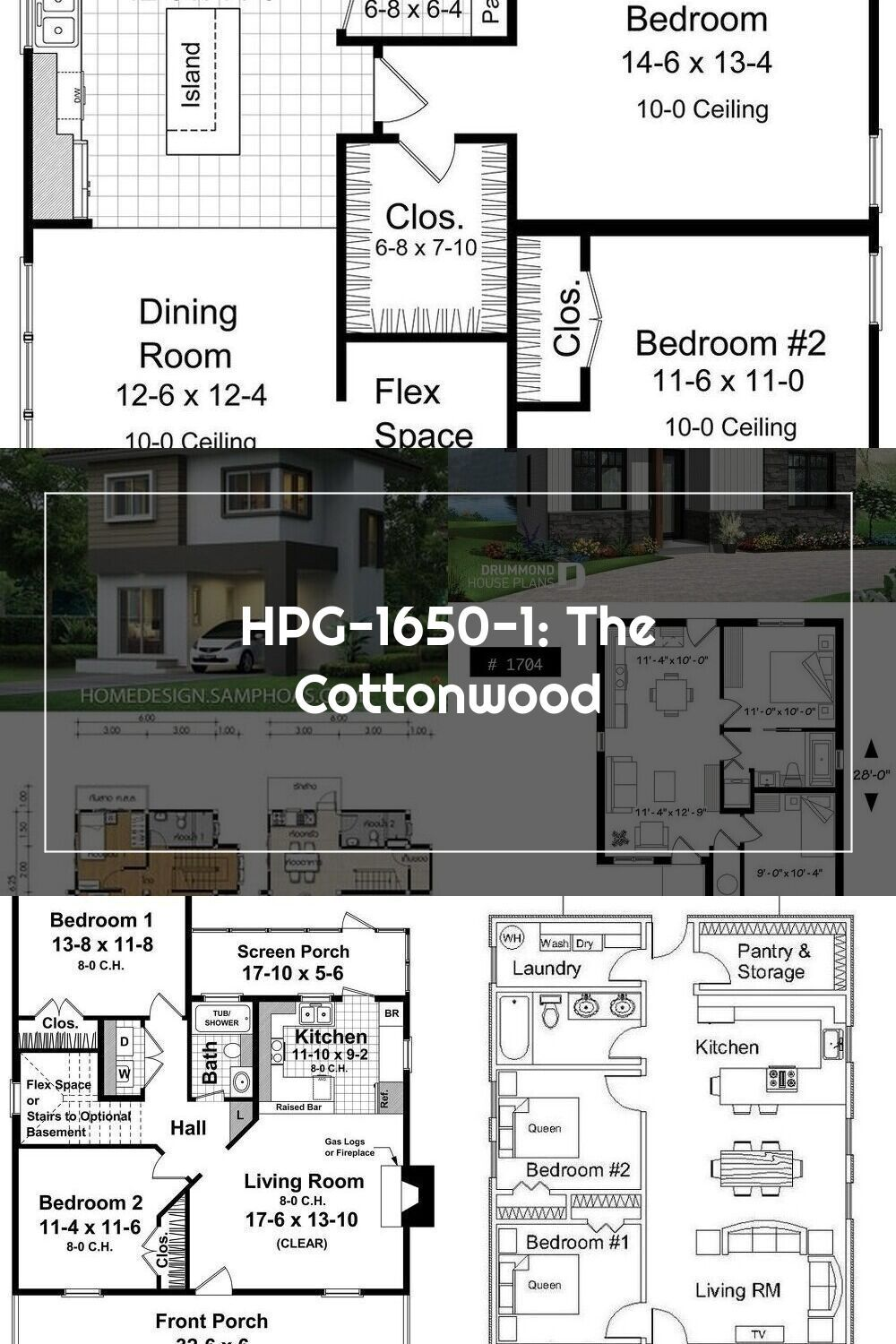 Hpg 1650 1 The Cottonwood House Plan Gallery Build Your Dream Home With Family Floor Plans V 2020 G