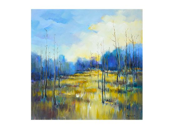 Scandinavian Designs - The Niflorus oil painting on canvas is a beautiful  landscape of blue and