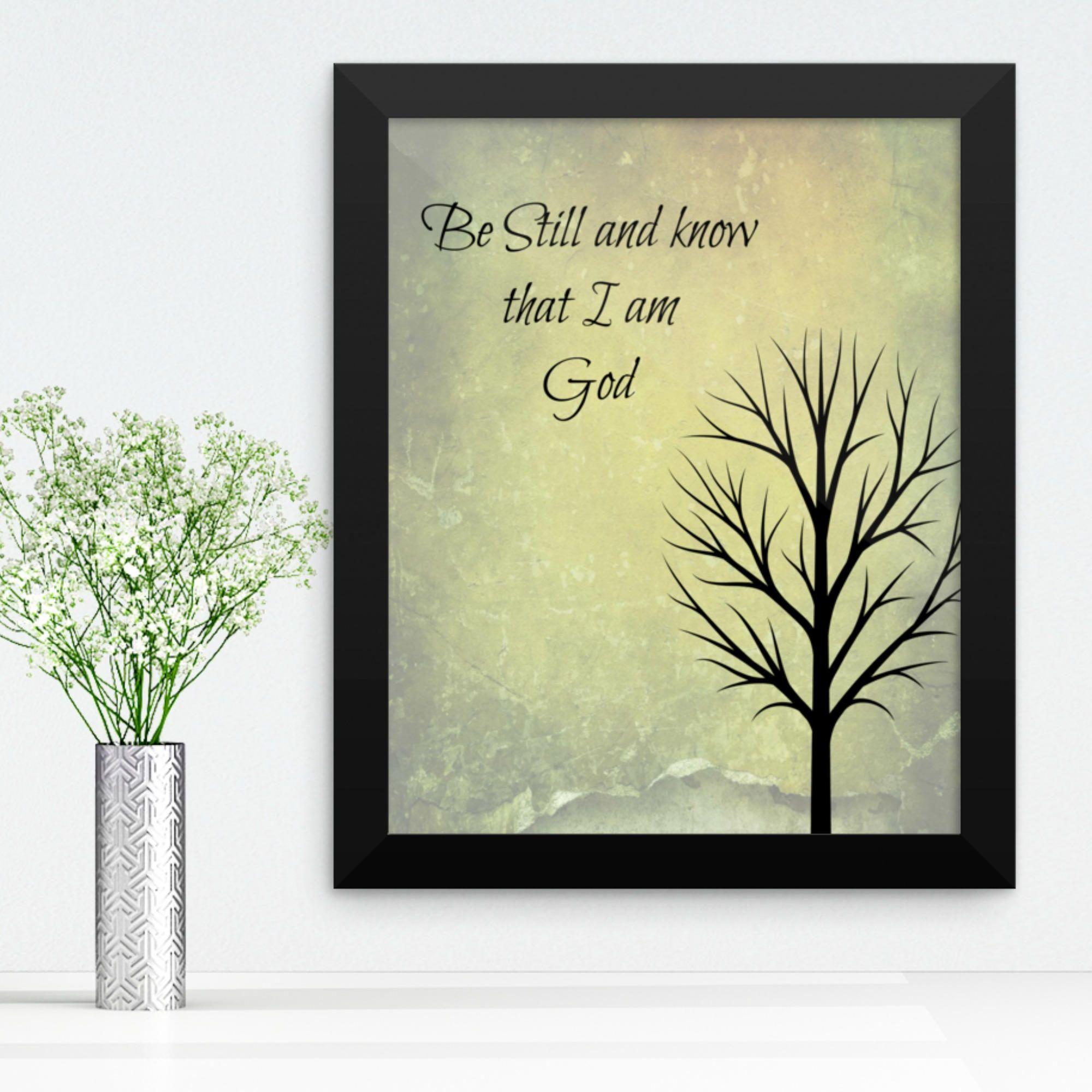 Bible Verse Art Prints, Scripture Wall Art, Be still Art Print ...