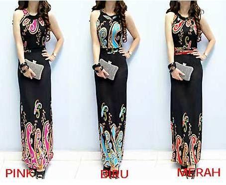 TBNJ4253 Maxi Dress Spandek Batik | Fashion | Pinterest | Maxis ...