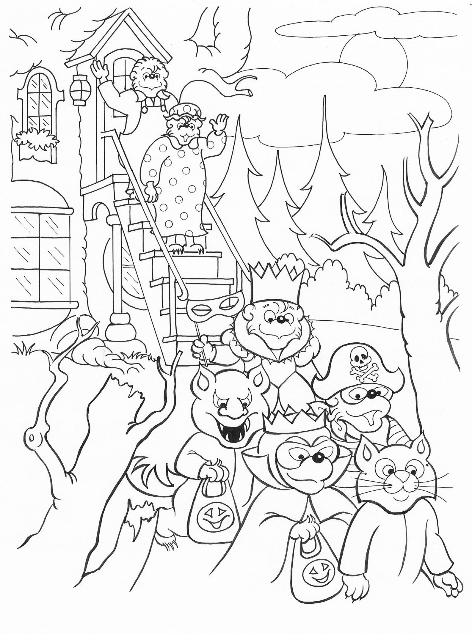 Halloween Coloring Berenstain Bears Coloring Pages