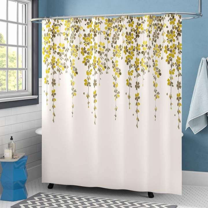 Weigel Floral Single Shower Curtain Colorful Curtains Floral