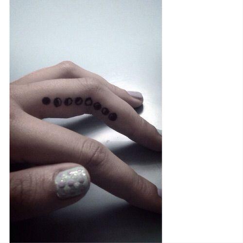 Moon Phase Tattoo On Inner Finger Simple Tattoos Finger Tattoos Love Tattoos