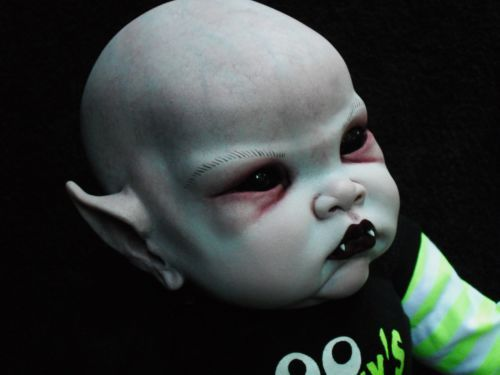 Ooak Horror Goth Art Doll Evil Baby Vampire Halloween