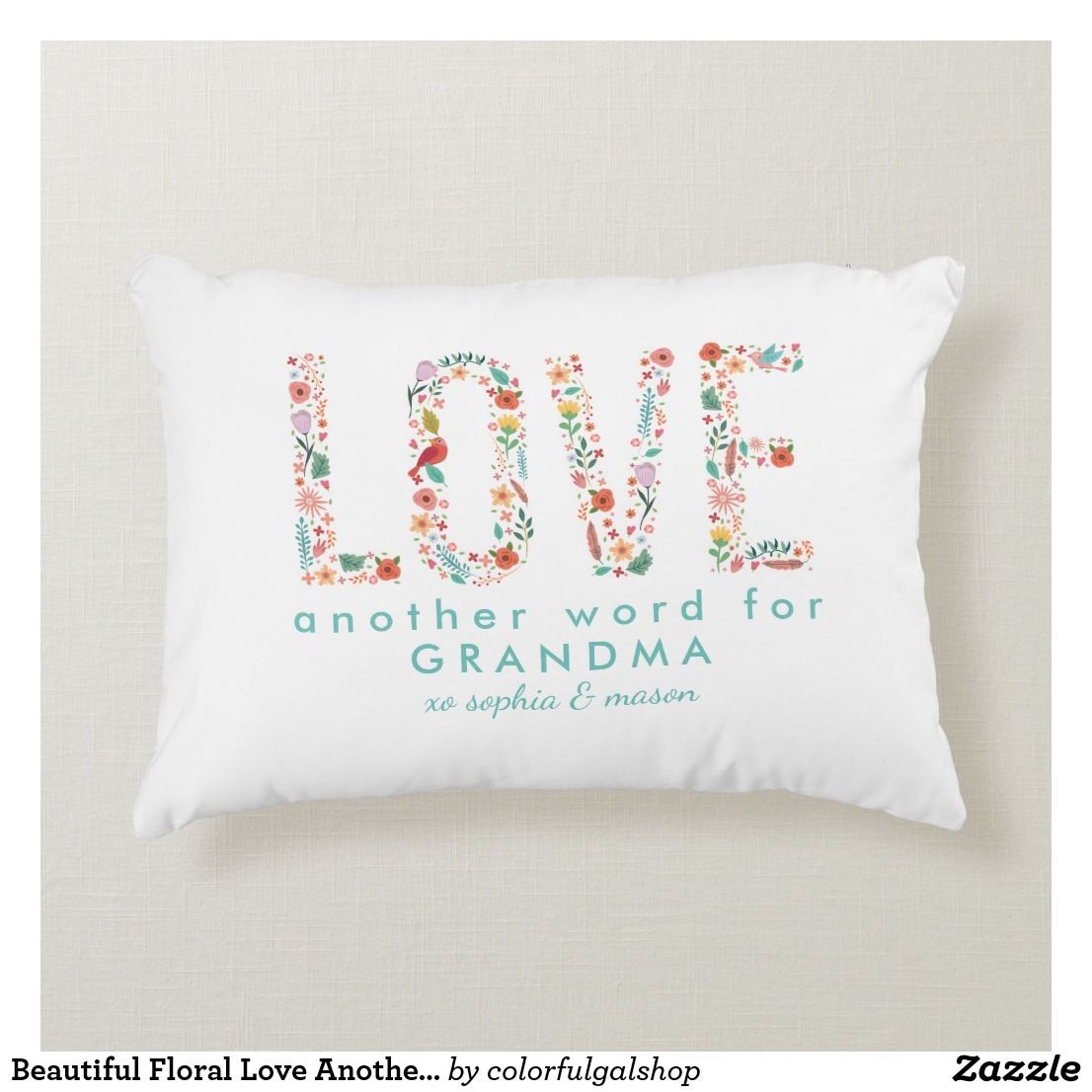 beautiful floral love another word for grandma accent