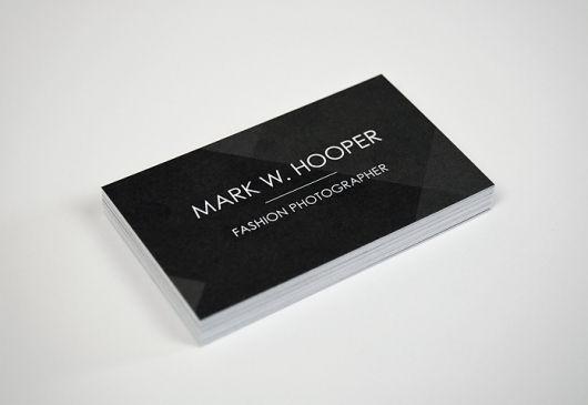 Joey Teehan Graphic Designer Dublin Mark Hooper Fashion Photographer Business Card Design