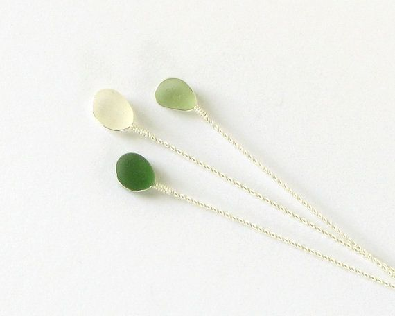 Stemmed Sea Glass for Bridal Bouquets  by LiliDMagpieCreations, $36.00