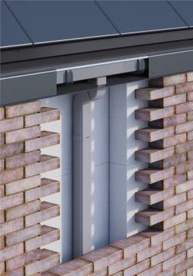 picture: Diagram of the concealed gutter system. tectonica-online metadossier