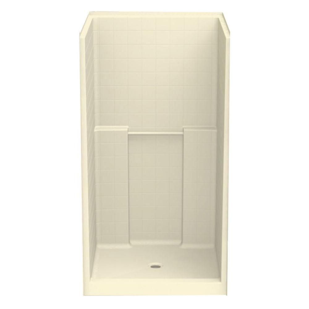 Aquatic Everyday Smooth Tile 42 in. x 42 in. x 76 in. 1-Piece Shower ...