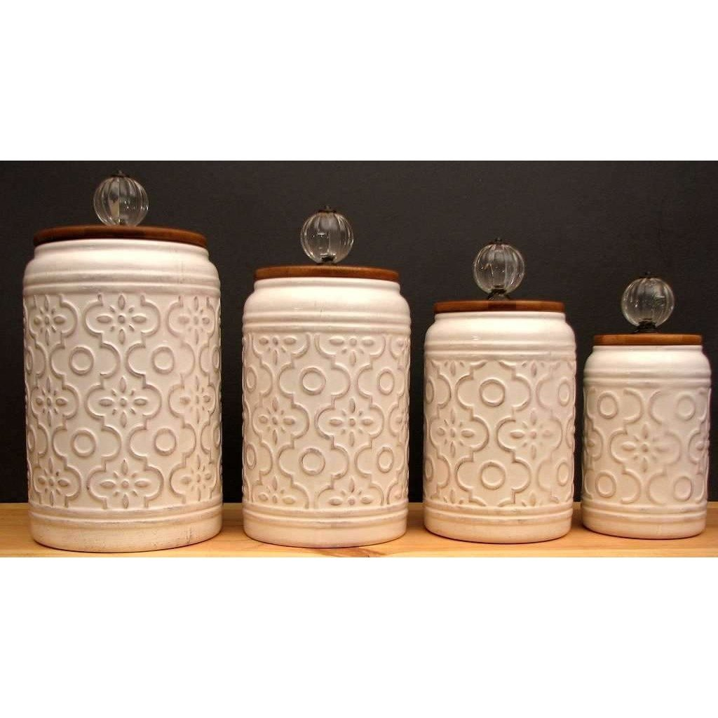 Vintage style ceramic piece canister set in products