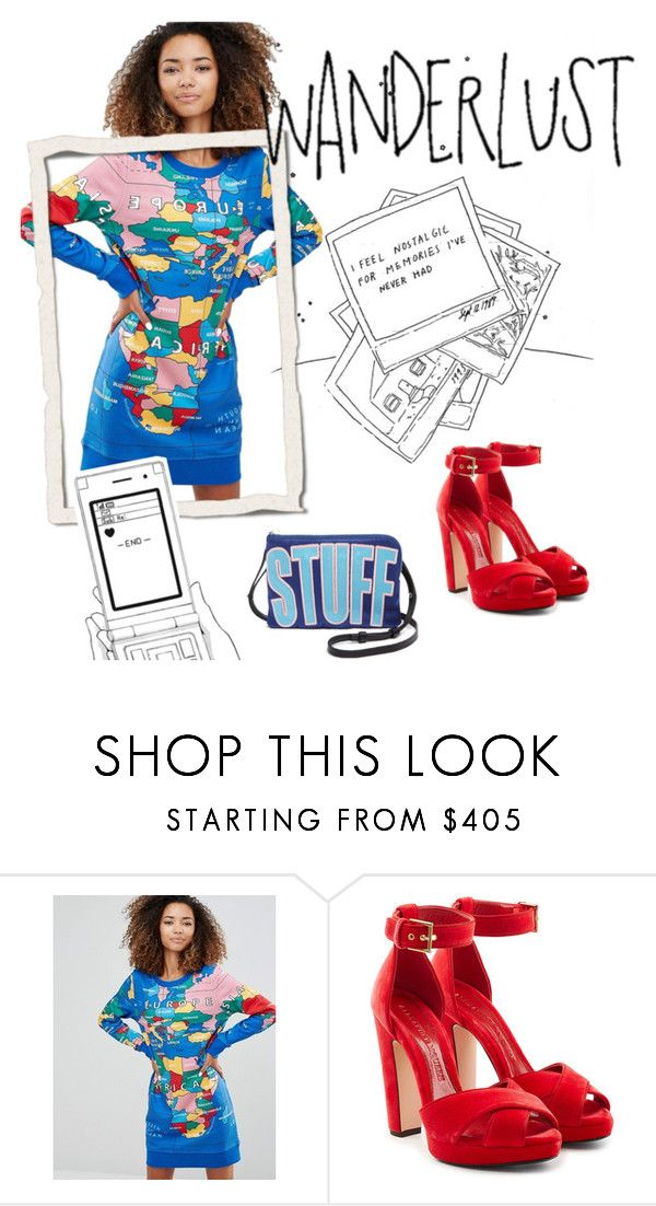 """""""wanderlust dress"""" by janesmiley ❤ liked on Polyvore featuring Love Moschino, Alexander McQueen and House of Holland"""
