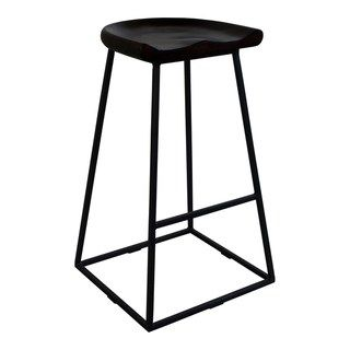 Aurelle Home Solid Industrial Stools Set Of 2 Bar Height 29