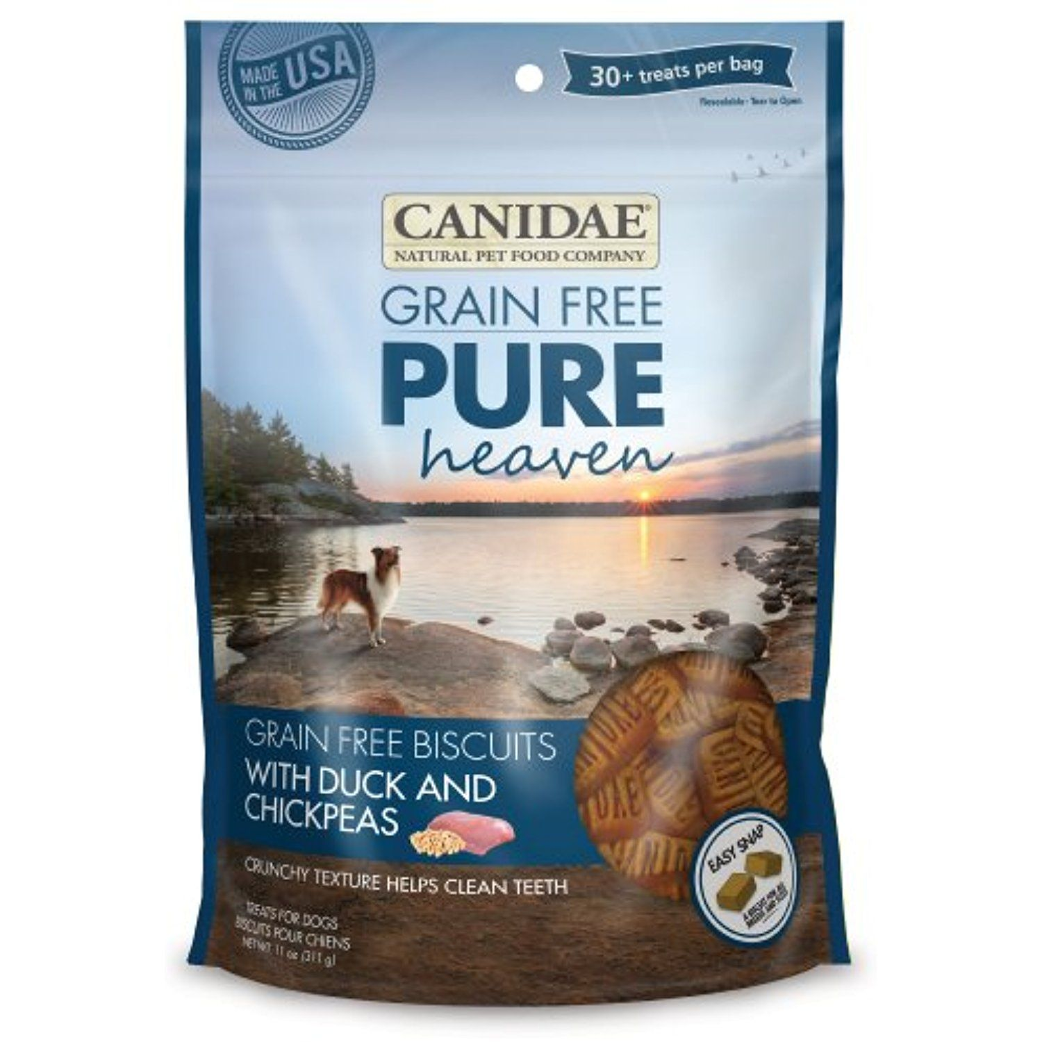 Canidae Grain Free Pure Heaven Dog Biscuits With Duck Chickpeas