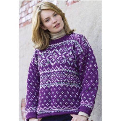 Free Northern Lights Fair Isle Pullover Knit Pattern Fair Isle