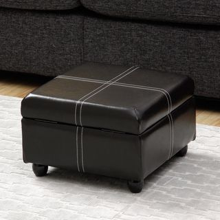 Fantastic Dark Brown Square Storage Ottoman Overstock Com Shopping Inzonedesignstudio Interior Chair Design Inzonedesignstudiocom