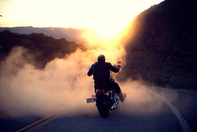 Riding Off Into The Sunset Harley Harley Davidson Ufc