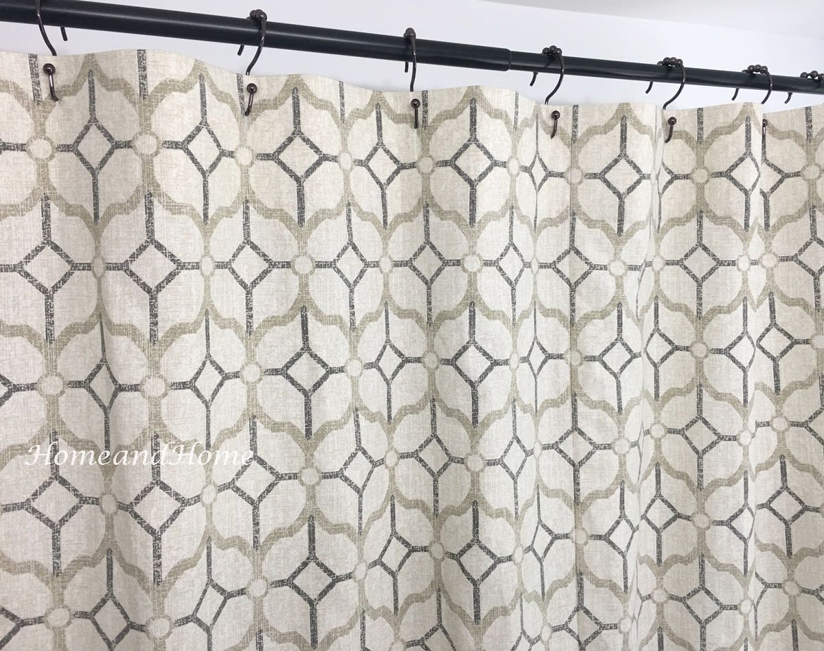 Gray Shower Curtain Pewter Grey Beige 72 X 84 108 Long Shower Curtain Extra Wide Shower Curtain Custom Shower Curtain Custom Shower Curtain Custom Shower Curtains Gray Shower Curtains Long Shower Curtains