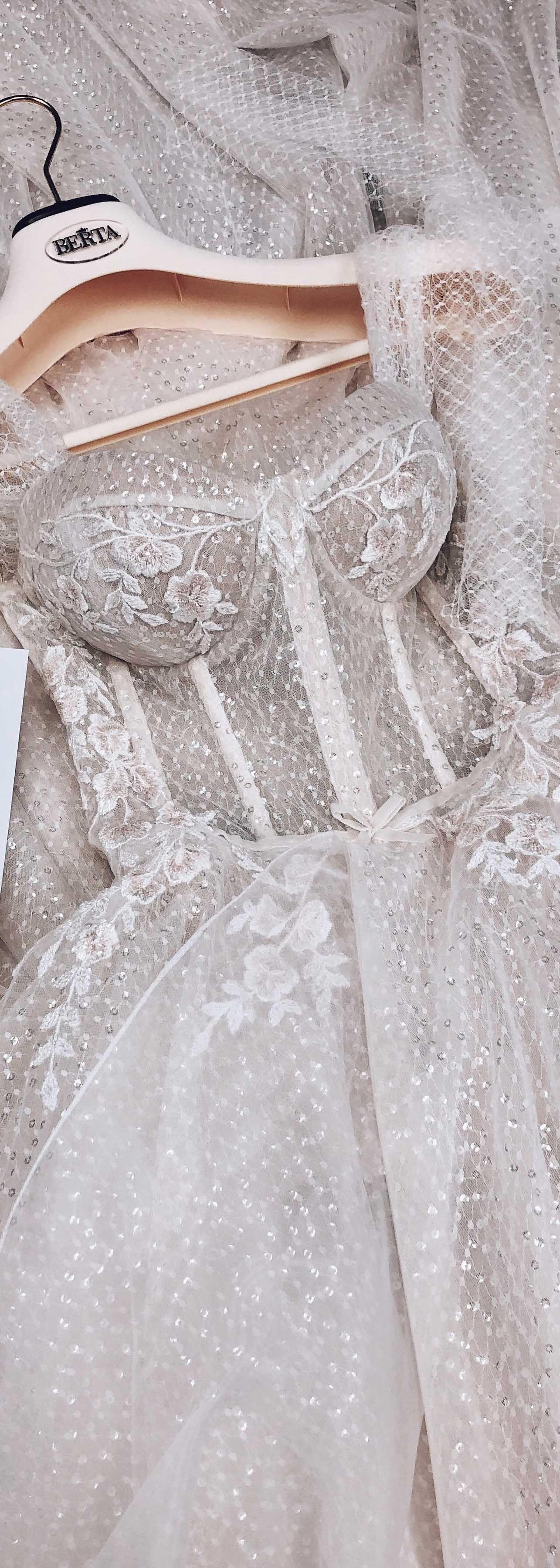 From the beautiful Barcelona collection - #MUSEbyBERTA #bertaweddingdress