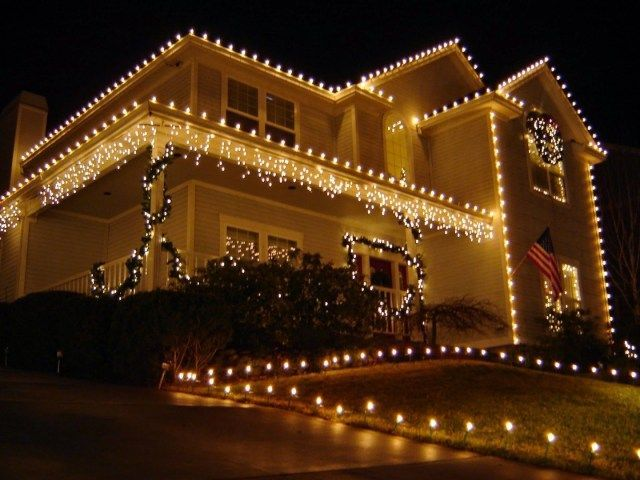 Large Outdoor Christmas Lights Light Decorations Led Patio With Regard To