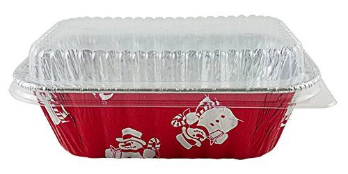 Handifoil 1 Lb Red Aluminum Foil Mini Loaf Bread Holiday Baking