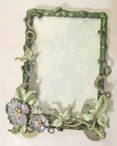 Cosmo Collection Swarovski Crystal Enamel Picture Frame 4x6