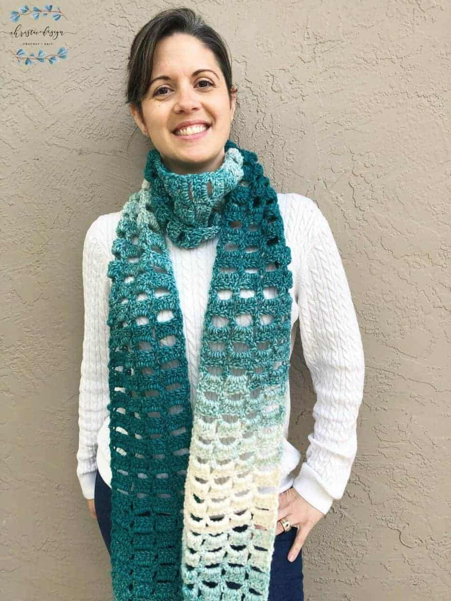 Photo of Alza Crochet Scarf a Free + Easy Crochet Pattern