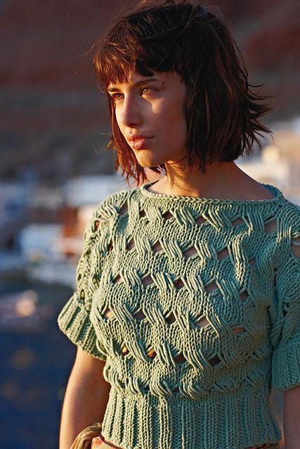 Rowan All Seasons Chunky Collection (British knitting/crochet booklet): Rhea Top pattern by Marie Wallin (via Ravelry)