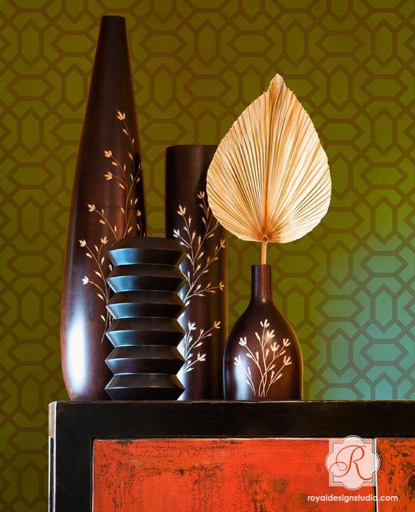 Moroccan Furniture Stencils | Small Atlas Moroccan Stencil | Royal Design Studio