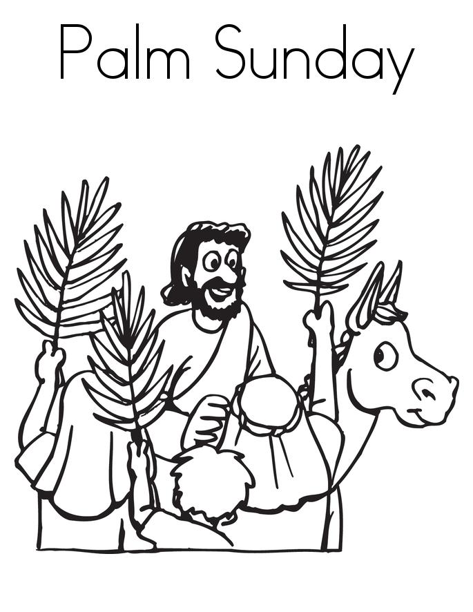 Palm Sunday Coloring Pages Palm sunday, Sunday school