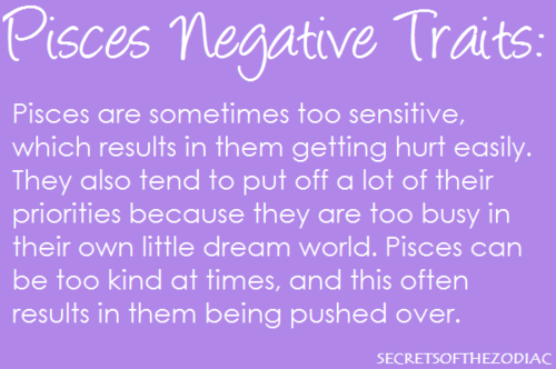 Negative traits of pisces woman