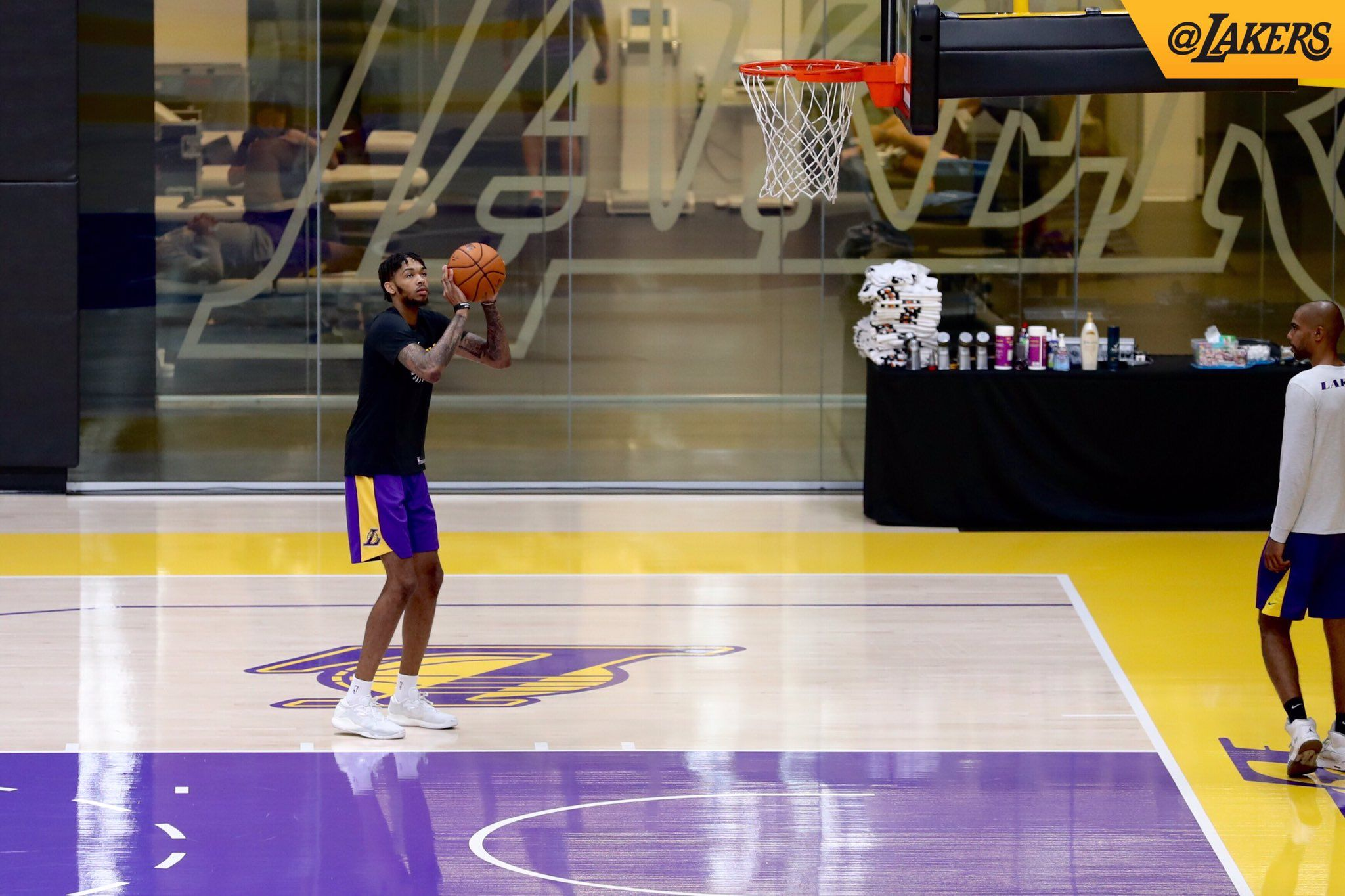 First on the floor B_Ingram13 LakeShow at UCLA Health