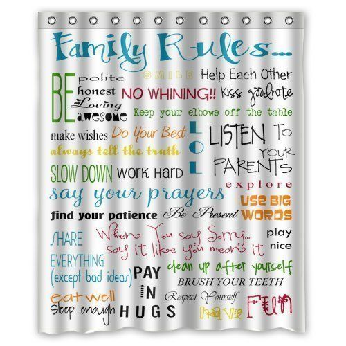 Sea Secret Family Rules Educational Waterproof Fabric Polyester