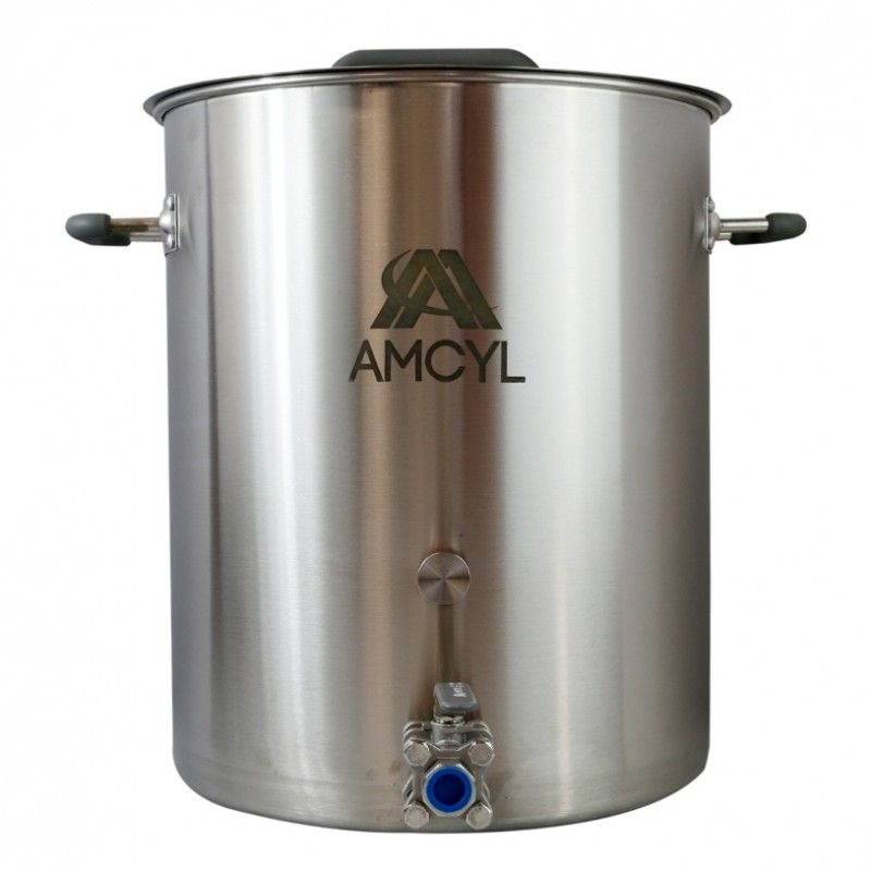 Amcyl 10 Gallon Brew Kettle W 3 Piece Ball Valve Brewing Equipment Home Brewing Kettle