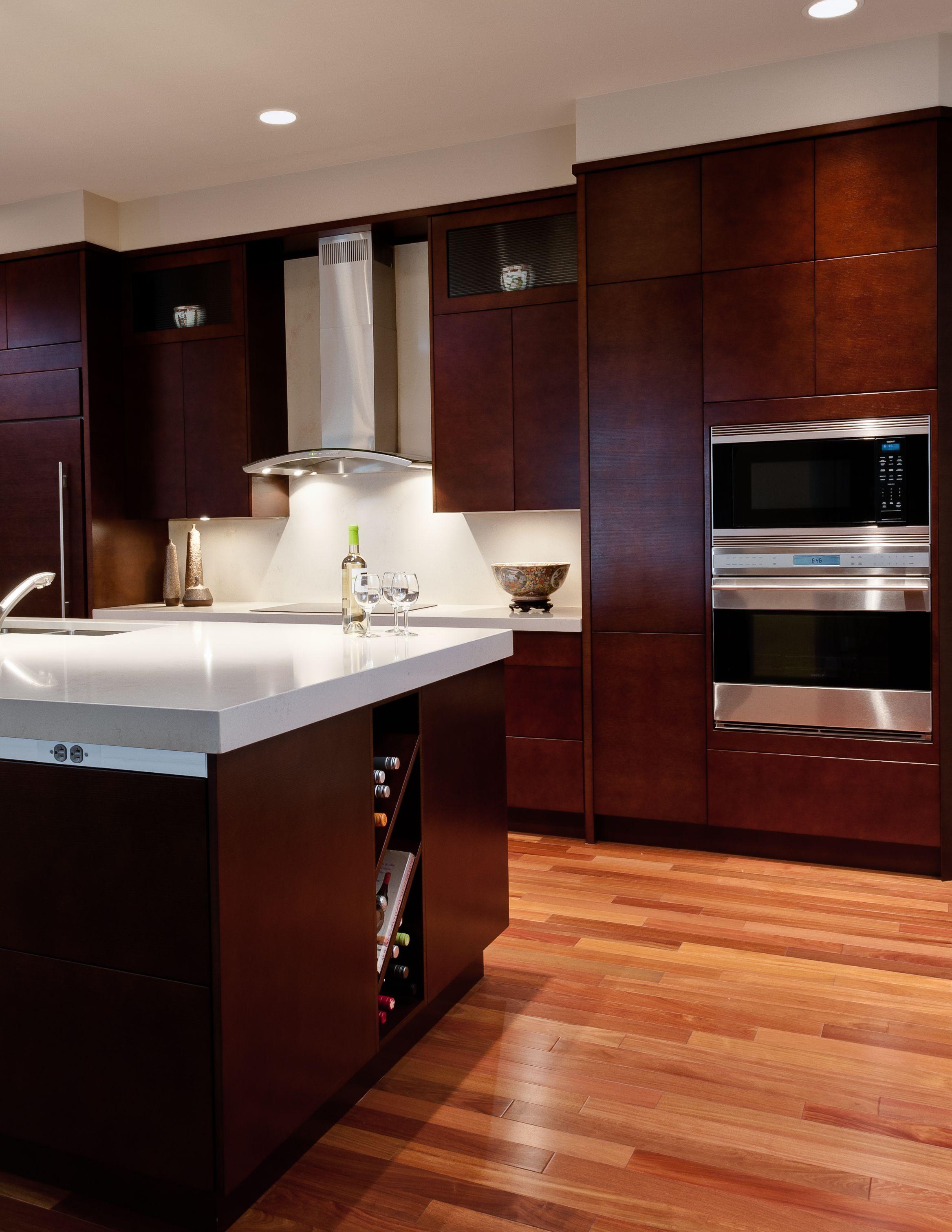 Contemporary kitchen high rise Annapolis condo Portfolio
