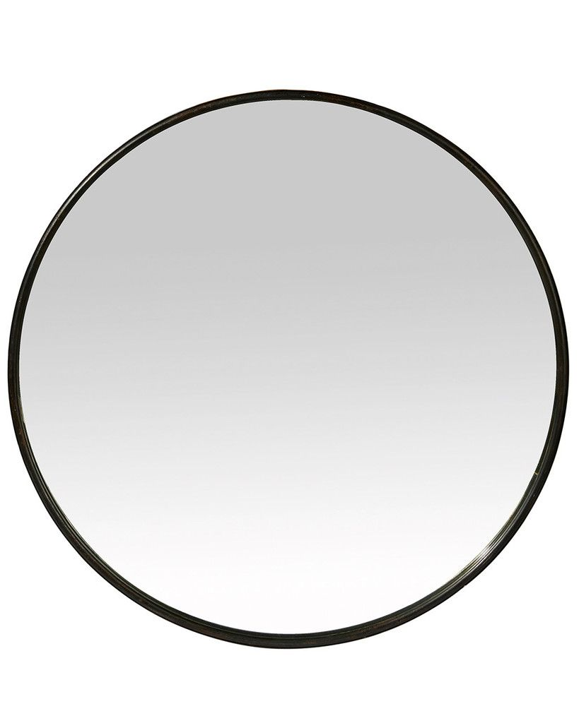 Largeboudoirroundmirror bathroom pinterest round mirrors