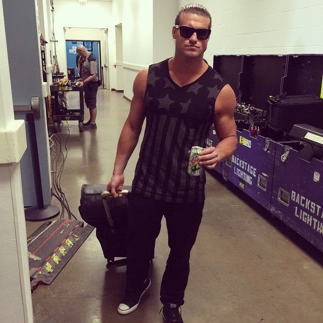 Hours prior to #WWEChamber, the Show Off @heelziggler arrives feeling confident as ever!