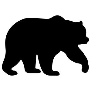 i think i m in love with this design from the silhouette design rh pinterest com black bear clip art images black bear clip art pictures
