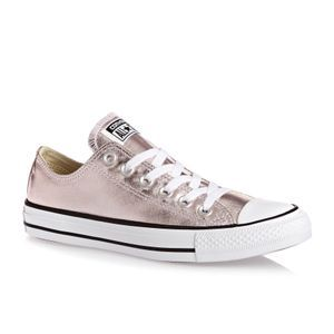 Converse Trainers - Converse Chuck Taylor All Star Metallic Canvas Ox Shoes  - Rose Quartz  ad543010c
