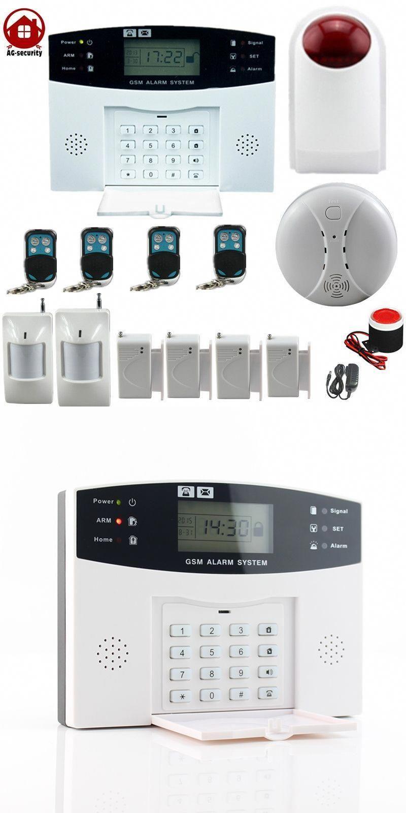 Gsm Wireless Home Burglar Security Alarm Detector Sensor Kit Smoke Detector Outdoor Siren Home Security Sy Home Security Home Security Systems Gsm Alarm System