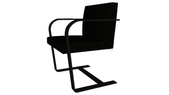 Large Preview Of 3d Model Of Brno Chair Chair Brno Decor