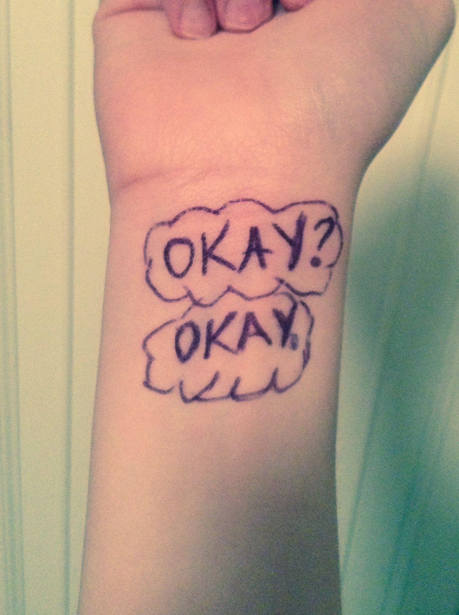 I drew it on, so it's kinda sloppy. Still love it