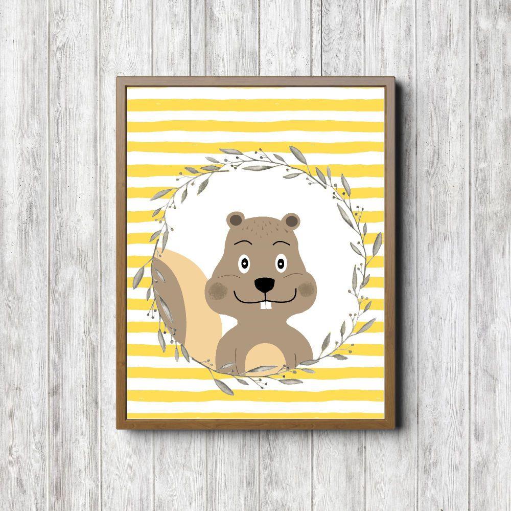 Woodland Nursery Wall Art Squirrel Printable by PrimroadDesigns ...