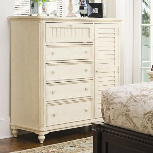 Universal Home Door Chest with Louvered Door and Clothing Rod - Baer's Furniture - Chest with Doors Boca Raton, Naples, Sarasota, Ft. Myers, Miami, Ft. Lauderdale, Palm Beach, Melbourne, Orlando, Florida