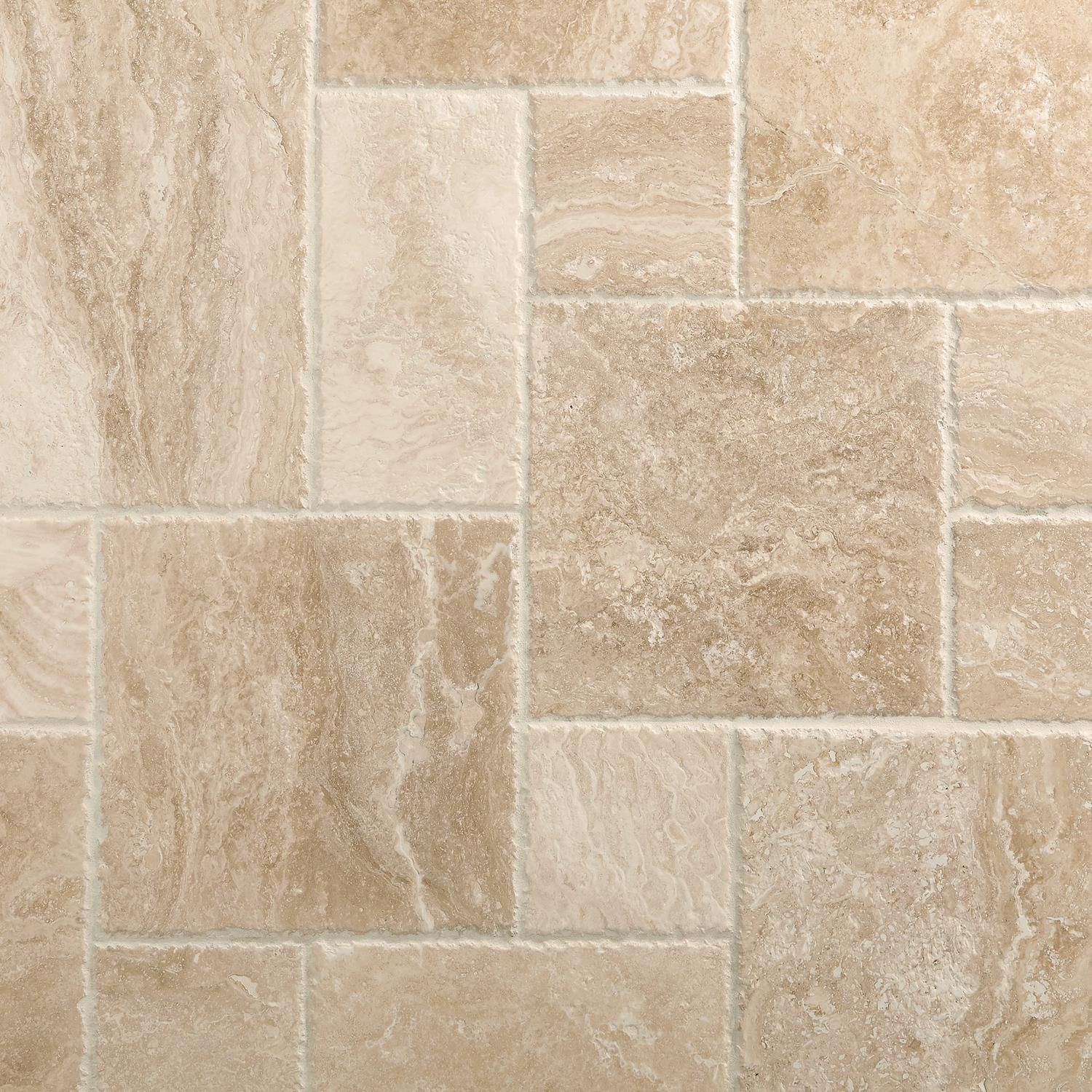 Cascade Cream Brushed Chiseled Travertine Tile Travertine Tile