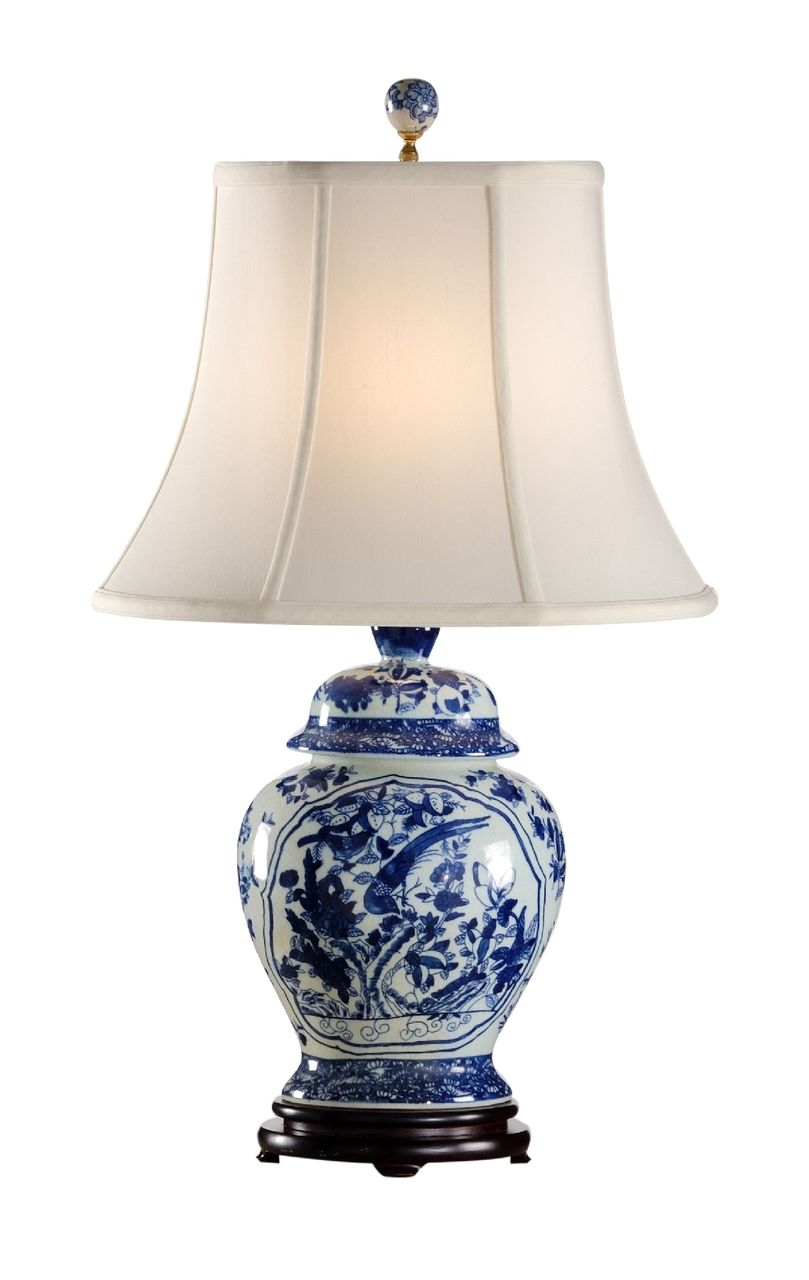 Fledgling porcelain lamp in traditional style with blue white fledgling porcelain lamp in traditional style with blue white asian design by frederick cooper blue geotapseo Image collections