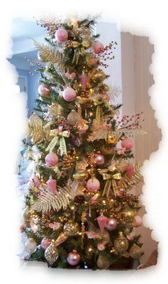 Pink and Gold Christmas Tree