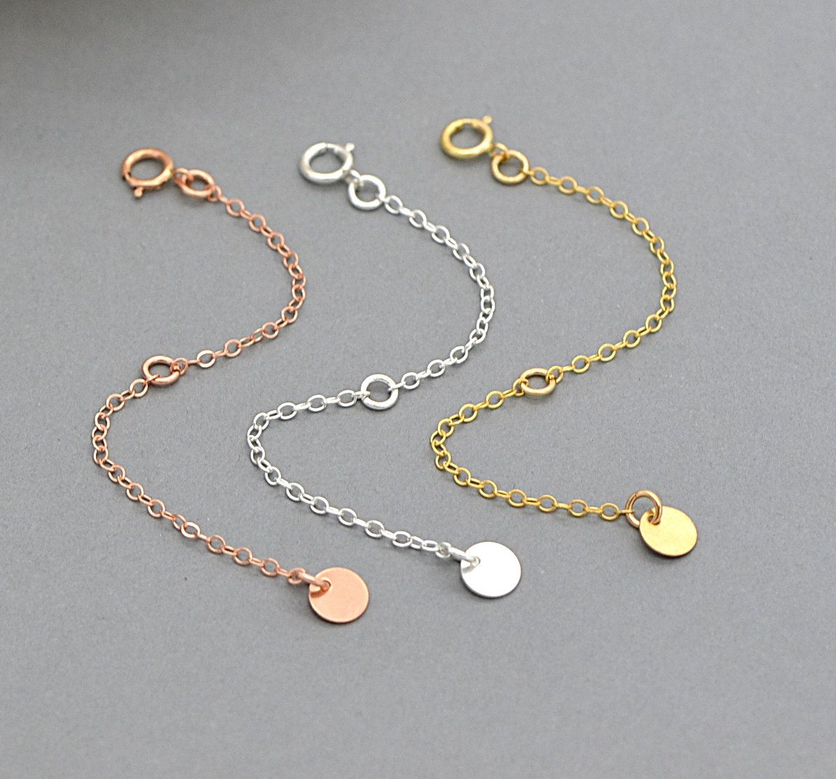 Extension Chain Extender Chain 14k Gold Filled Sterling Silver